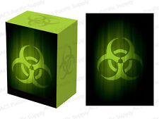 100 LEGION SUPER ICONIC BIOHAZARD MATTE DECK PROTECTORS w/ DECK BOX Green Sleeve