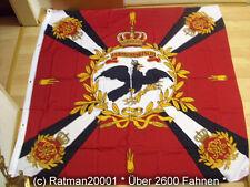 Fahnen Standarte Rot mit Kreuz Königlichen Regiments Preussen - 150 x 150 cm