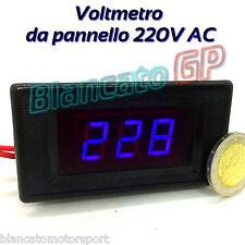VOLTMETRO DIGITALE 70V - 250V AC LED BLU VIOLA DA PANNELLO 220V voltmeter tester