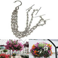 35cm Easy Fill Replacement Metal Spare Chain For Hanging Basket Garden Plant Pot