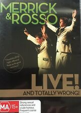 Comedy Stand Up MerrIck & Rosso Live and Totally Wrong + INSERT Region 4 DVD VGC