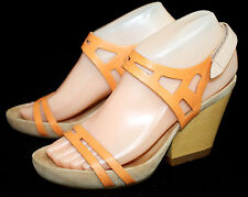 CAMPER Allegra 21746-001 Wo's 5.5 Eu 36 Orange Leather Slingback Platform Sandal