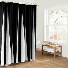 Simple Black And White Fabric Bathroom Shower Curtain Liner Polyester Waterproof