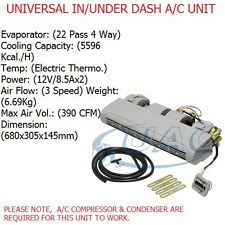 UNIVERSAL AC UNIT ASSEMBLY KIT86  IN / UNDER DASHBOARD KIT 3 SPEED 12V