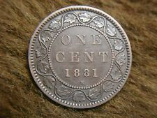 1881 H CANADA LARGE CENT COIN - LOADS OF DETAIL