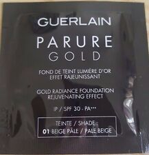 NEW GUERLAIN PARURE GOLD Gold Radiance Foundation Shade 01 Pale Beige 1ml