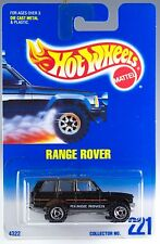 Hot Wheels No. 221 Range Rover Black w/SB's MOC