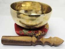 "E8054N Energetic Throat G Chakra Healing 5"" Hand  Hammered Tibetan Singing Bowl"