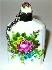 LIMOGES BOX - VINTAGE FLORAL PERFUME FLASK - FLOWERS - ROSES - SCENT BOTTLE