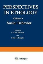 Perspectives in Ethology: Social Behavior 3 (2012, Paperback)