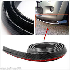 2.5m Black Carbon Fiber Car SUV Front Bumper Lip Splitter Spoiler Skirt Body Kit
