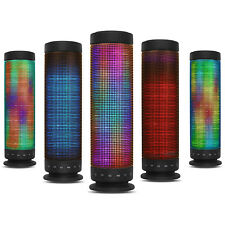 Bluetooth Rainbow LED Speaker Colorful LED Pattern Dance to Music For Smartphone