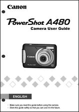 Canon Powershot A480  Digital Camera User Guide Instruction  Manual