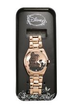 Disney Beauty & The Beast Belle Silhouette Rose Gold Tone Watch Gift New In Tin!