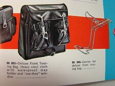 NOS DELUXE FRONT TOURING BAG AND CARRIER