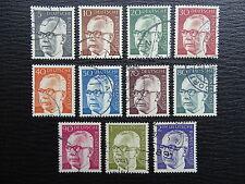 BRD 635-645 , Freimarken: Gustav Heinemann I , Gestempelt