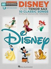 Easy Play-Along Disney For Tenor Sax Learn to Play Beginner Movie Music Book