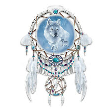 UNIQUE WOLF NATIVE AMERICAN STYLE DREAM CATCHER WALL DECOR NEW
