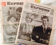 PRINCESS DIANA UK DAILY EXPRESS ENGAGEMENT 1981 Special NEWSPAPER & INSERT RARE