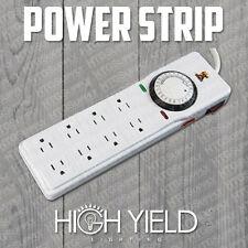 POWER STRIP SURGE GROW LIGHT TIMER 8 OUTLET 15 AMP 24 H