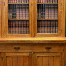 Dolls House Victorian Wallpaper Library Books Mural Quality Paper Miniature #01