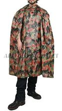 BudK Swiss Military HOODED RAIN PONCHO Alpenflage Camo Wet Weather Shelter NEW