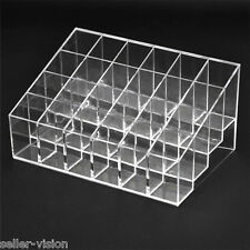 24 Makeup Lipstick Cosmetic Storage Display Rack Holder Organiser Clear Stand
