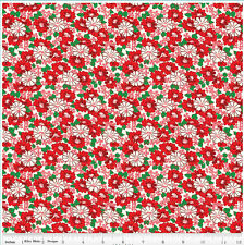 """Riley Blake Penny Rose Hope Chest Floral Red 100% cotton 43"""" Fabric by the yard"""