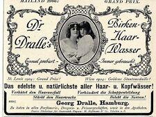 Grand Prix Mailand 1906: Dr.Dralle's Birkenhaarwasser Annonce von 1908