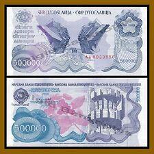 Yugoslavia 500000 (500 Thousand) Dinara, 1989 P-98 Unc