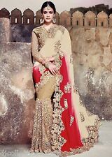 Designer Wear Stunning Pure Georgette with Heavy Cut Work Saree
