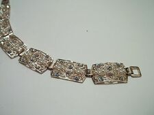 "MADE IN GERMANY vintage bracelet,rhinestones,faux pearls,7""long,great cnd,"