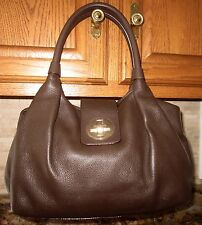 Kate Spade Chocolate brown Smooth Buttery soft Leather Large Jessie Bexley Purse