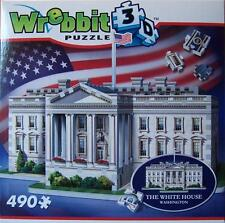 WREBBIT 3D JIGSAW PUZZLE MANSION COLLECTION THE WHITE HOUSE 490 PCS  #W3D-1007