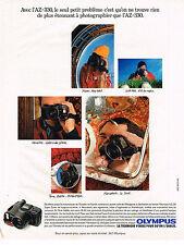 PUBLICITE ADVERTISING 054  1990  OLYMPUS  appareil photo   AZ AZ 320 AZ 330