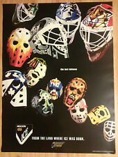 Molson Ice Beer Poster NHL Hockey Goalie Masks by Greg Harrison ~ Last Defense
