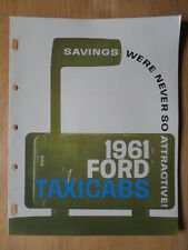 FORD FAIRLANE TAXI orig 1961 USA Mkt sales brochure