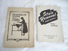 Vintage STAIN REMOVAL Booklets FARMERS BULLETIN 861 & NATIONAL RESEARCH BUREAU