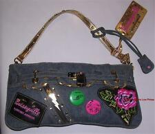 Betseyville by BETSEY JOHNSON Decorative Purse Crystal Stud Embroidery Hand Bag