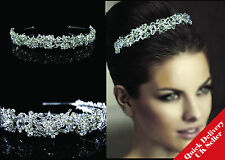 Sparkly FULL Crystal Wedding Bridal Flower Girl Tiara Prom Bridesmade Hair piece