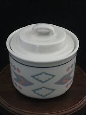 Otagiri OMC Figi Graphics Porcelain Lidded Sugar Bowl Made in Japan