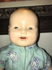 """Antique 14"""" Horsman Baby Dimples Doll Composition Cloth Tin Eyes EIH Co Inc."""