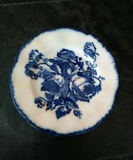 Vintage Staffordshire Ironstone Flow Blue and White 10 in. Plate