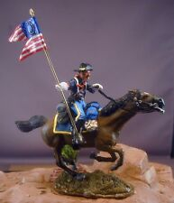 54mm 7th Cavalry Mounted Guidon Bearer Resin Unassembled Kit New Pose