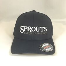 Sprouts Farmers Market Flexfit Cap 6477 Wool Blend Hat Yupoong Dark Navy L/XL