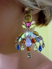 J CREW COLORFUL CRYSTAL OMBRE EARRING NWT