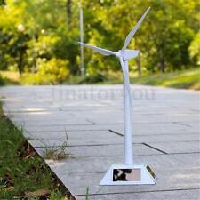 White Model-Solar Powered Windmill Wind Turbine Desktop Farm Decor Science Toy