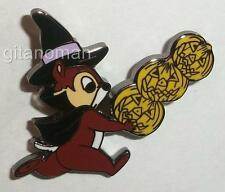 Japan Disney Store JDS Halloween 2004 Chip n Dale Mini Pin Set - Witch Chip ONLY
