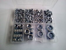 367 Pcs. Hexagon Full Nuts Set in plastic box M3, M4, M5, M6, M8, M10, M12, M14