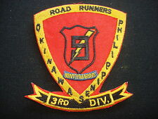US 9th Marine Regiment 3rd Marine Division ROAD RUNNERS Patch